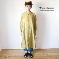 Vlas Blomme(ヴラスブラム)  Sunflower Stripe カフタンワンピース 13222001