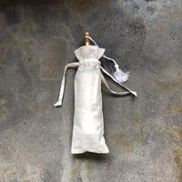 傳(ツタエノヒガサ)浜松注染 日傘/ 3段階折り畳みタイプ「ウサギノタスキ 麻ム地 白 」
