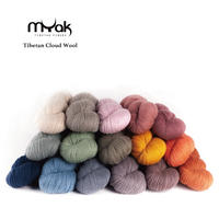 【受注販売】mYak 100% Tibetan sheep wool 100gかせ(Sport/ Light DK weight)