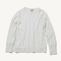 カシミヤコットンクルーネックTEE(ホワイト)TC-0113