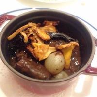 蝦夷鹿のスネ肉、赤ワイン煮込み(Jarret de chevreuil en civet)1パック肉の量が90g