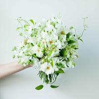 Wedding Bouquet ラウンドブーケ&ブートニアSET(M)