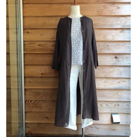 NOMBRE IMPAIR  ロングシャツワンピース Brown