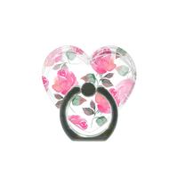 ハート型♡ピンクローズスマホリング