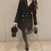 tweed jacket one-piece(black)