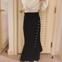 mermaid botão skirt