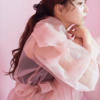 Le.ema sheer ribbon blouse (pink)