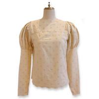 cotton puff blouse(beige)