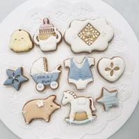 ベビーアイシングクッキー(ブルー)