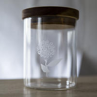 wood glass canister M #2