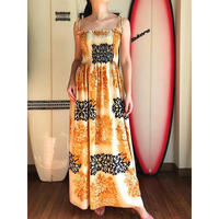 Local Design  Hawaiian Quilt Maxi シャーリングワンピース HNLS02773-41710