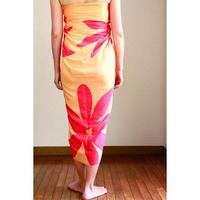Hawai'ian Pareo   TAHITIAN  TIARE GARDEN  Apricot/Hot Pink   HNLS03043-8660