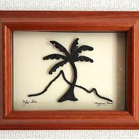 ハワイアンアート Diamond Head Tropical Palm コアウッドフレーム HNLS0735-57040