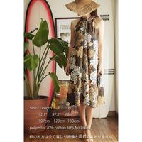 Ginger Dress モカ ハイビスカス ジンジャードレス HNLS02459-47610