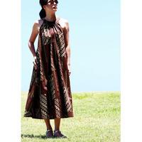 Long Ginger Dress ブラウンタパ ロングジンジャードレス HNLS02844-74610