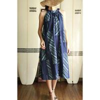 Ginger Dress ネイビー タパ柄 ジンジャードレス HNLS02615-54210