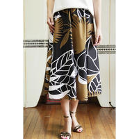 Flare Skirt パームリーフ ブラック HNLS02640-81410