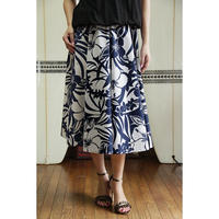Flare Skirt ハイビスカス ブルー HNLS02642-81410
