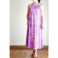 Long Ginger Dress パープルプルメリア ロングジンジャードレス HNLS02891-74610