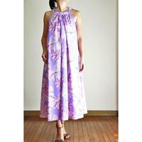 Long Ginger Dress パープルハイビスカス ロングジンジャードレス HNLS02893-74610