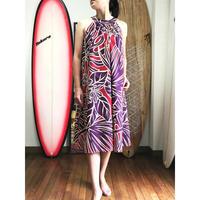 Ginger Dress パープル プルメリア ジンジャードレス HNLS02570-55610