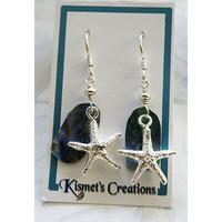 Kismets Creation ハワイアンジュエリー スターフィッシュ x アバロニ ピアス HNLS01285-06330-ST107