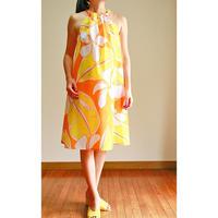 SWING DRESS  SUNSET ORANGE  PLUMERIA ワンピース HNLS02787-47210