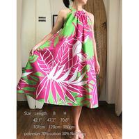 Ginger Dress ピンク パームリーフ ジンジャードレス HNLS02566-55610