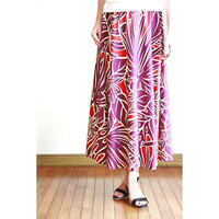 Long Flared Skirt パープルモンステラ ロングフレアースカート HNLS02880-26710