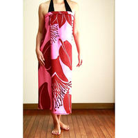 Hawai'ian Pareo   Ohia Lehua  PINK/BURGANDY  HNLS02917-8660