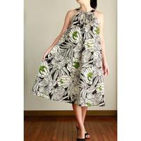 Ginger Dress ハイビスカス/トーチ ブラック ジンジャードレス HNLS02961-48210