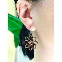 チェリーウッド ピアス ロータス   Lotus Flower  Earrings HNLS03032-78810