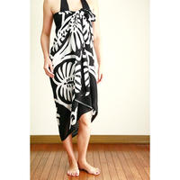 Hawai'ian Pareo  Hawai'ian Quilt  BLACK and WHITE HNLS02915-8660