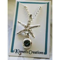 Kismets Creation ハワイアンジュエリー スターフィッシュ x アバロニシェル ネックレス HNLS01284-59040-ST105