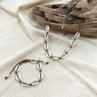 shell bracelet 〜brown〜