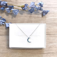 《NEW》silver925 turquoise moon necklace