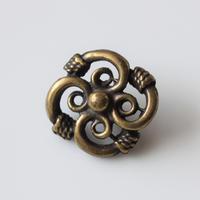 フランス ロープお花のメタルボタン 一つ穴20㎜