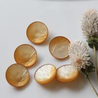 ゴールドグラデーションのフランスボタン【M】25㎜ ヴィンテージボタン 一つ穴