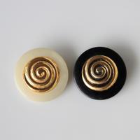 【ボタンセット】france vintage  ぐるぐる大きめメタルボタン2個セット 26㎜