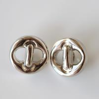 【ボタンセット】france vintage  シルバーボタン2個セット