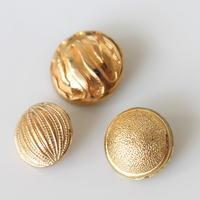 【ボタンセット】france vintage  ゴールドボタン3個セット 124