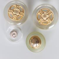 【ボタンセット】 france vintage クリアボタン4個set フランスボタン