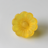 小さな花ボタン(イエロー) 1穴12mm フランス現行