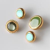 【ボタンセット】france vintage  グリーンボタン4個セット