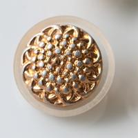 クリアフレーム金ボタン 1穴26mm フランスヴィンテージボタン