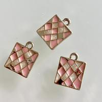 メタルチャーム12mm(pastel pink) フランス アクセサリーパーツ