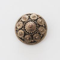 france vintage メタル調ボタン 22㎜
