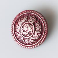 フランスヴィンテージ メタル紋章ワインレッド塗装 一つ穴20㎜ フランス