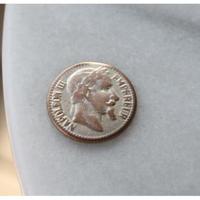 フランス現代ボタン ナポレオン金貨メタルボタン大 一つ穴23ミリ
