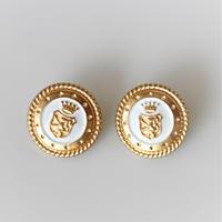 【ボタンセット】france vintage  エンブレムメタルボタン2個セット 354